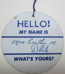 Eartha nametag