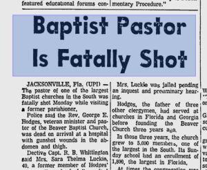 Baptist Pastor Shot