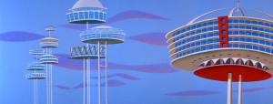 Orbit City, where the Jetsons lived, courtesy The Jetsons Wiki at www.thejetsons.wikia.com.
