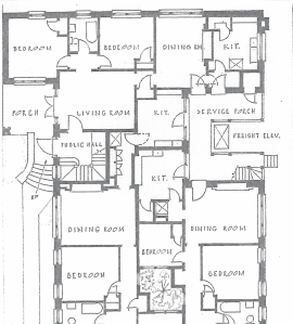 Partial diagram courtesy The Architecture of Henry John Klutho by Robert Broward